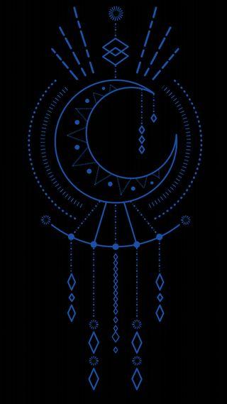 Обои на телефон янь, племенные, черные, синие, символ, священный, мандала, космос, инь, знаки