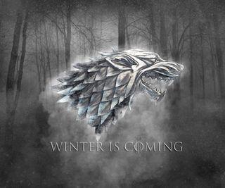 Обои на телефон старк, туман, игра, зима, дом, волк, house stark wolf