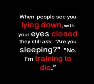 Обои на телефон сон, юмор, умри, поговорка, комедия, глаза, training to die