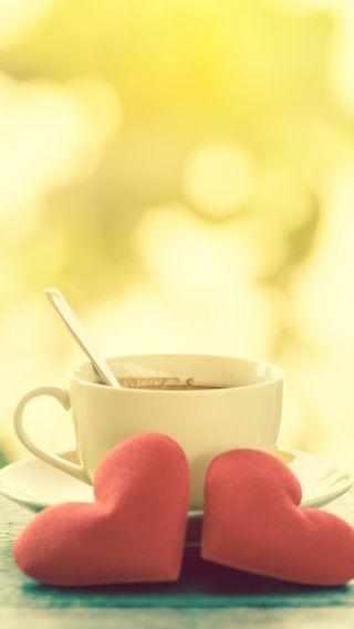 Обои на телефон кофе, любовь, love