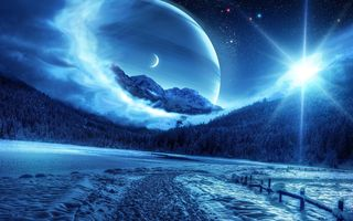 Обои на телефон снег, сияние, планета, космос, ночь, небо, крутые, зима, дорога, горы