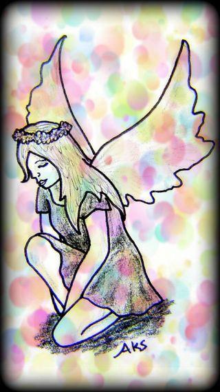 Обои на телефон конфеты, фантазия, сказочные, рисунки, пузыри, милые, девушки, арт, myth, kneeling fairy girl, faerie, art