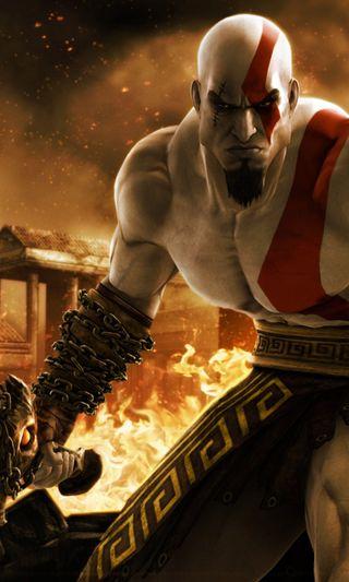 Обои на телефон кратос, игра, война, бог, god of war, 2013