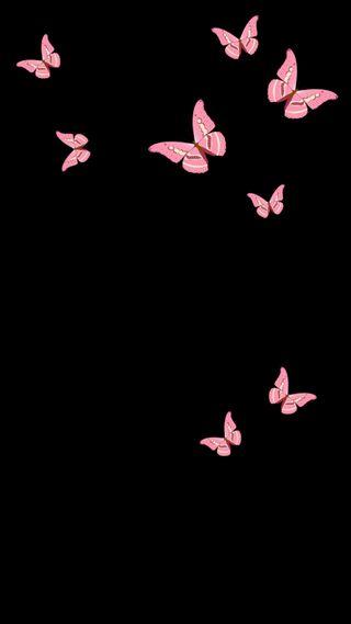 Обои на телефон амолед, черные, самсунг, розы, розовые, природа, материал, бабочки, samsung, mariposa, amoled