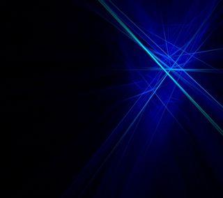 Обои на телефон синие, неоновые, лучи, абстрактные