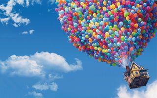 Обои на телефон шары, пиксар, up, up wallpapers pixar