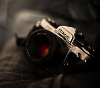 Обои на телефон фотография, технологии, объектив, карбон, камера, дизайн, винтаж, nikon, hd