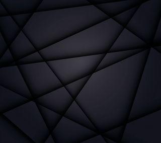Обои на телефон многоугольник, черные, тени, темные, сияние, светящиеся, линии, the black one
