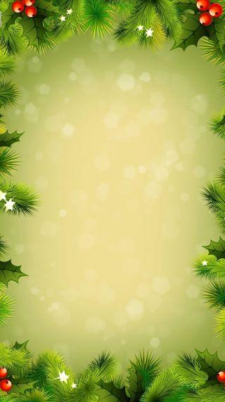 Обои на телефон украшение, праздник, рождество, зеленые, декор