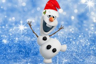 Обои на телефон холодное, счастливые, счастливое, снеговик, санта, рождество, олаф, happy, christmas olaf