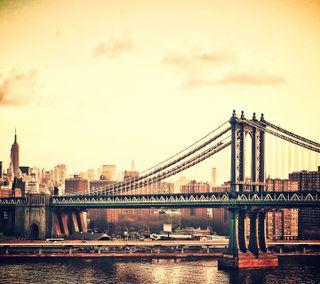 Обои на телефон мост, винтаж, пейзаж