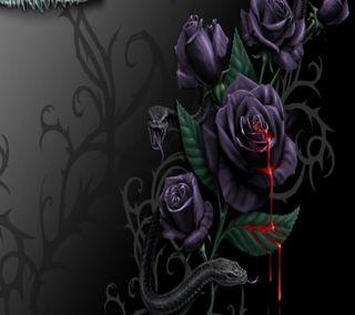 Обои на телефон готические, розы, gothic rose