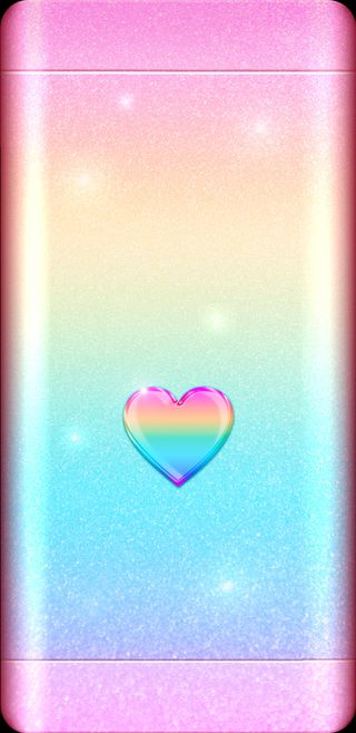 Обои на телефон девчачие, симпатичные, сердце, сверкающие, розовые, радуга, блестящие