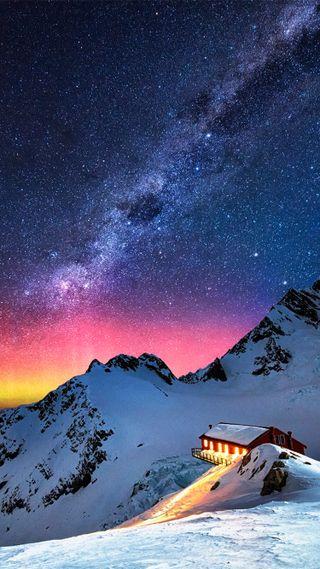 Обои на телефон аврора, снег, свет, природа, небо, любовь, луна, звезды, жизнь, горы, love