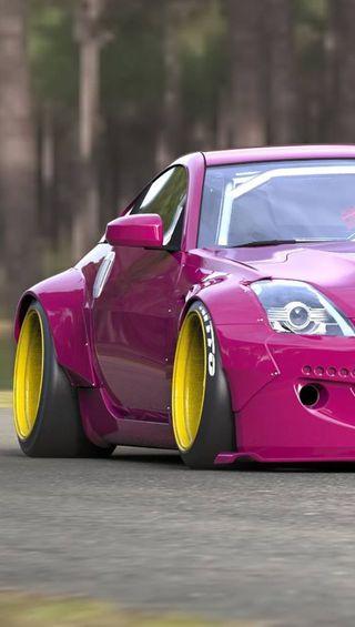 Обои на телефон ниссан, розовые, машины, nissan 350z, nissan