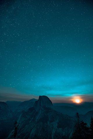 Обои на телефон galaxy, mac, note, galaxy 4k, галактика, небо, ночь, звезда, горы, туманность, снежные