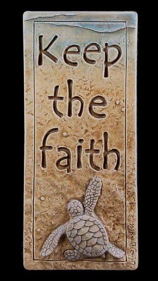 Обои на телефон черепаха, вера, песок, keep the faith