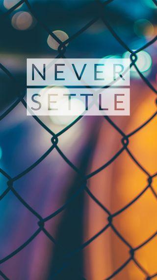 Обои на телефон темные, синие, решить, ночь, никогда, красые, never settle 2, never settle