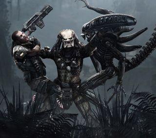 Обои на телефон хищник, пришелец, морской, монстры, игры, видео, predator supremacy