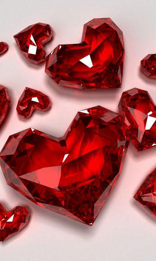 Обои на телефон сердце, красые, red hearts