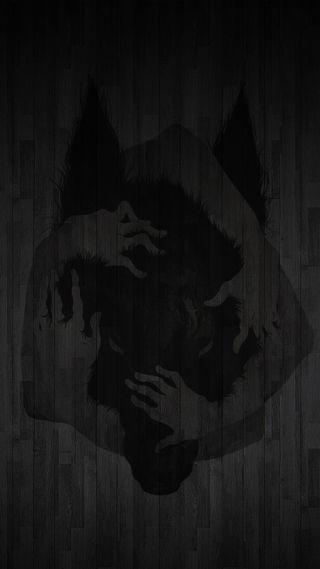 Обои на телефон черные, ужасы, оборотень, дикие, волк, kill