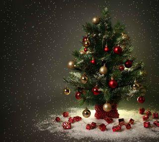 Обои на телефон праздник, рождество, дерево