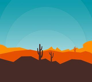 Обои на телефон пустыня, пейзаж, небо, материал, камни, кактус, день, material desert day