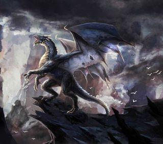 Обои на телефон ящерица, рык, змея, змеевидный, дрейк, зло, зверь, дракон, атака, dragon attack, dragon