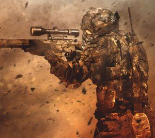 Обои на телефон солдат, снайпер, военные