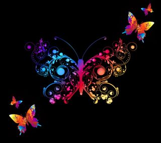 Обои на телефон цветные, бабочки, фон, абстрактные, colored abstract, abstract butterflies