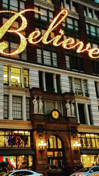 Обои на телефон нью йорк, рождество, новый, город, верить, macys - believe, macys, 34th st
