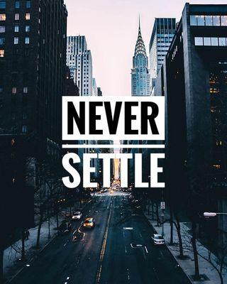 Обои на телефон решить, позитивные, никогда, oneplus wallpaper, oneplus, never settle