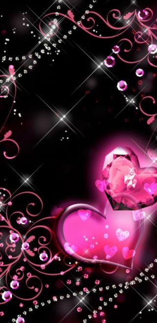Обои на телефон бриллиант, симпатичные, сердце, сверкающие, розовые, драгоценность, девчачие, бриллианты, блестящие