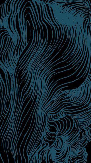 Обои на телефон мягкие, синие, рисунки, натуральные, линии, изгибы, арт, drawn blue lines, art