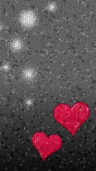 Обои на телефон мозаика, сердце, mozaika - serce