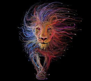 Обои на телефон король, лев, арт, абстрактные, art
