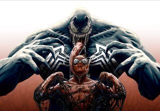 Обои на телефон человек паук, против, пришелец, марвел, веном, marvel