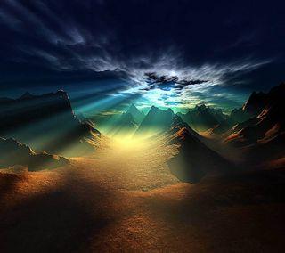 Обои на телефон цвета, природа, закат, горы, hd colours, 3д, 3d nature