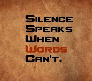 Обои на телефон тишина, поговорка, speaking