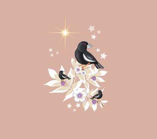 Обои на телефон цветы, животные, дизайн, flower animal 012