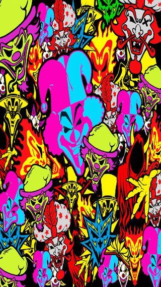 Обои на телефон клоун, карты, джокер, громить, juggalo, juggalette, insane clown posse, icp joker card smash, icp