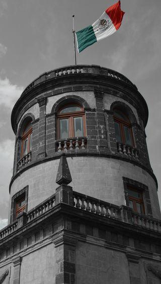 Обои на телефон флаг, мексика, cupula, colonial, castillo