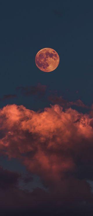 Обои на телефон blood moon, red clouds, красые, айфон, луна, облака, хэллоуин, эстетические, кровь, жуткие, ужасные