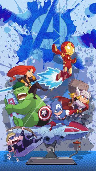 Обои на телефон тор, черные, халк, соколиный глаз, мультфильмы, мстители, кепка, железный человек, америка, cartoon avengers, cap america