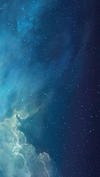 Обои на телефон синие, облака, небо, галактика, s6, hd, galaxy