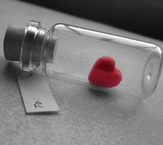 Обои на телефон бутылка, сердце, любовь, note, love