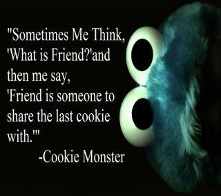 Обои на телефон цитата, печенье, cookie monster quote, 1440x1280