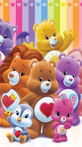 Обои на телефон забота, мультики, медведь, медведи, care bears