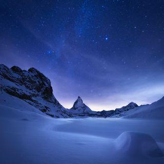 Обои на телефон сяоми, снег, небо, лед, зима, горы, xiaomi