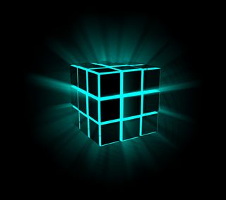 Обои на телефон коробка, светящиеся, куб, квадратные, абстрактные, rubik, 3д, 3d
